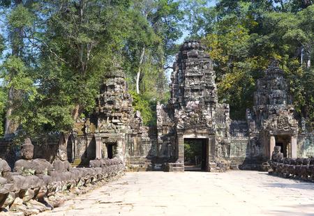 siem: north gate Angkor Thom, Siem Reap, Cambodia