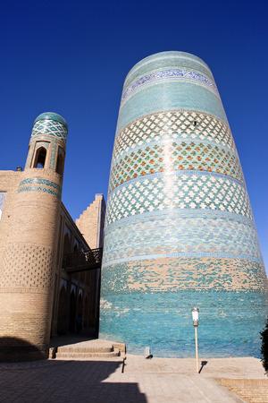 minor: unfinished Kalta Minor Minaret (minaret Muhammad Amin Khan (19th century)). Khiva, Uzbekistan