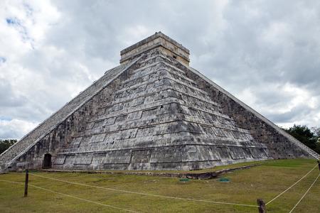 kukulkan: Kukulkan Pyramid in Chichen Itza on the Yucatan, Mexico Stock Photo