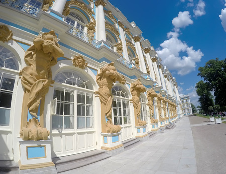 Katherines Palace hall in Tsarskoe Selo (Pushkin), Russia Editorial