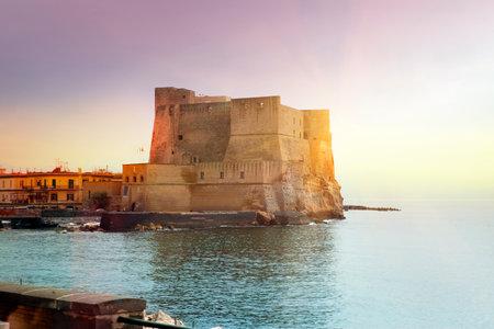 Castel dell'Ovo (Egg Castle), Italy. Naples.