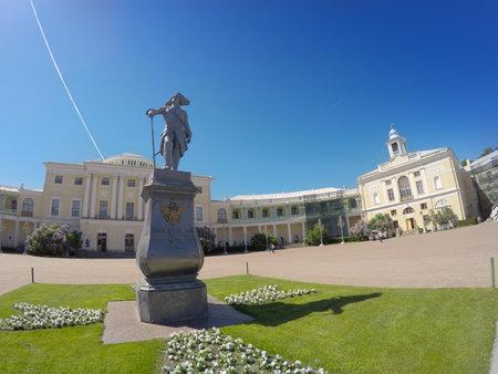 palacio ruso: Pavlovsk Palace, 18 century, Russian Imperial residence in Pavlovsk near Saint Petersburg, Russia Editorial