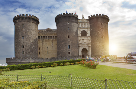 castel: Castel nuovo (New Castle) or Castle of Maschio Angioino in Naples, Italy.