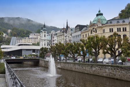 Karlovy Vary (Carlsbad), Tepla river.  Czech Republic.