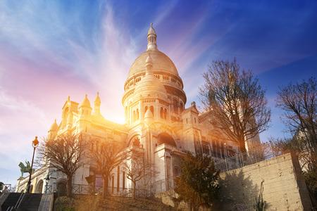 The Basilica of Sacre-Coeur, Montmartre. Paris.