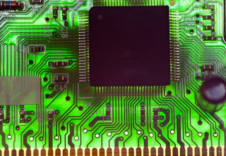 Electronic chip and standard inscriptions of resistors and condensers
