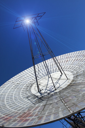 Big telescope. Russia, St. Petersburg, Pulkovo Observatory Stock Photo
