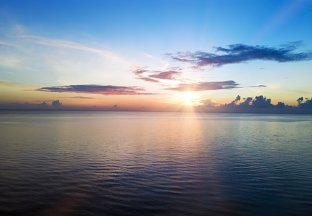sunset. over the sea Indonesia. Bali. Stock Photo