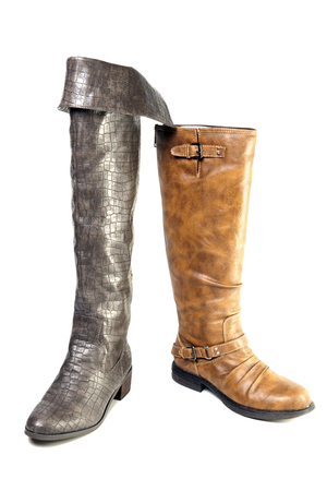 knee boots: female mass production high boot
