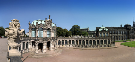 Zwinger palace, XVIII century - famous historic building in Dresden. Stok Fotoğraf - 78971320
