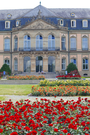 STUTTGART,GERMANY- MAY 31, 2012:  Neues Schloss (New Castle). Palace of the 18th century in baroque style in Germany, Stuttgart