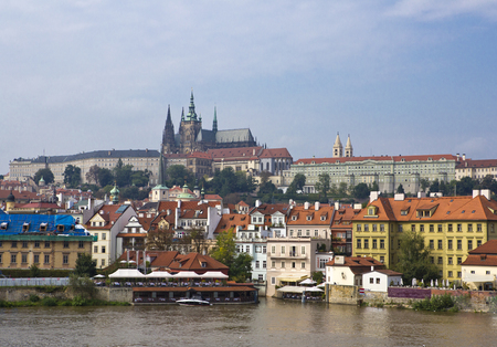 Prague - the old city and Vltava Embankment, the Czech Republic Stock Photo