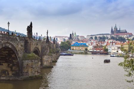 Prague - the old city, Vltava Embankment and Charles Bridge, the Czech Republic