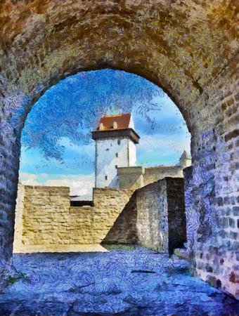 Estonia. Narva. Ancient fortress (XIII century)
