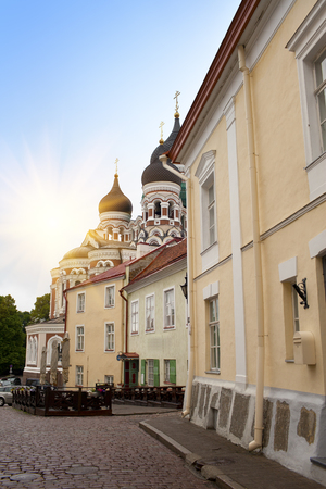 Alexander Nevsky Cathedral. Old city, Tallinn, Estonia.