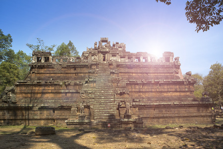 Phimeanekas temple (or Vimeanakas) at Angkor is a Hindu temple in the Khleang style, built at the end of the 10th century, Siem reap,Cambodia