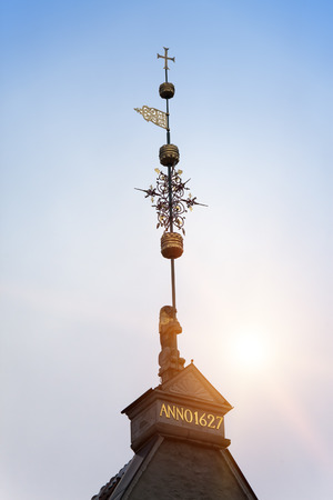 Old city, Tallinn, Estonia. A medieval weather vane Stock Photo