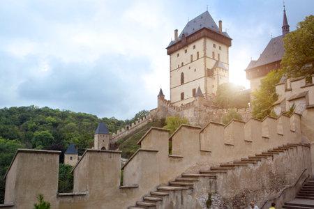 KARLSTEJN, - SEPTEMBER 25, 2014: Karlstejn medieval Castle. Bohemia, Czech Republic