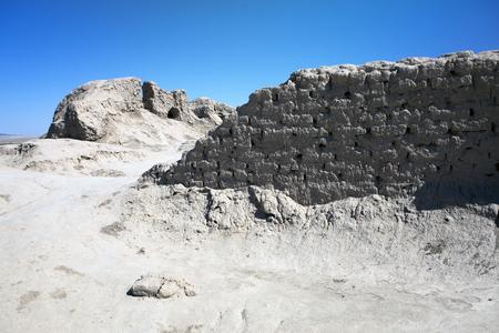 Ancient settlement Toprak-Kala- clay fortress Stok Fotoğraf