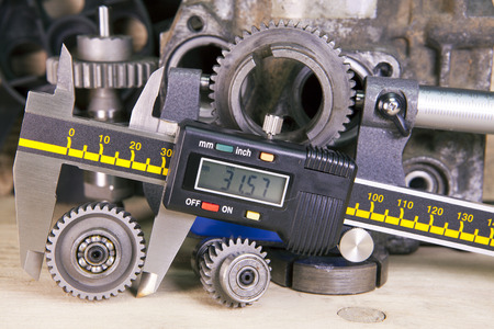 measurement of the details by a digital caliper