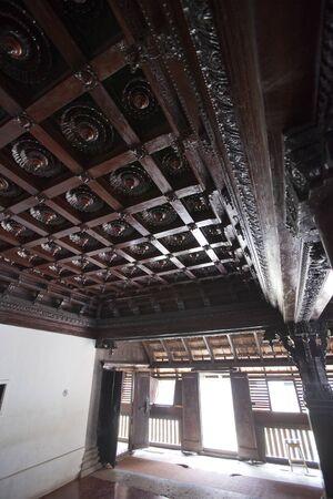 The ancient wooden palace Padmanabhapuram of the maharaja in Trivandrum, India Reklamní fotografie