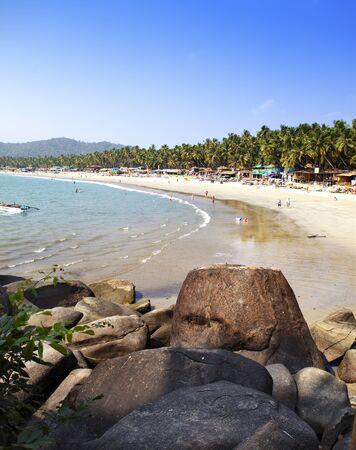 tropical beach Palolem, Goa, India
