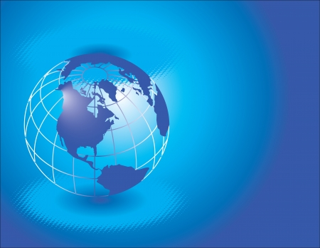 blue globe Stock Vector - 15526473