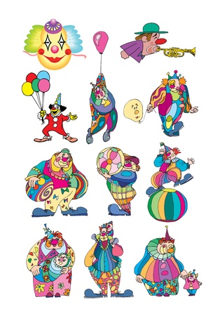 clown set Vector