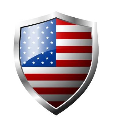 usa shield flag Vector