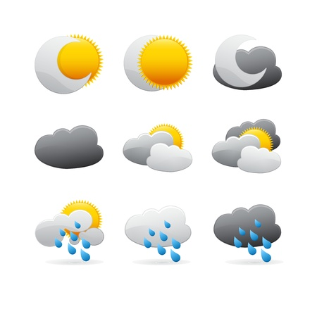 cloud climate all Stock Vector - 15527014