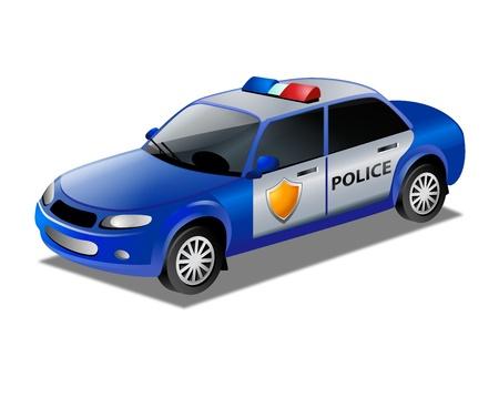 police cop car Stock Vector - 15531384