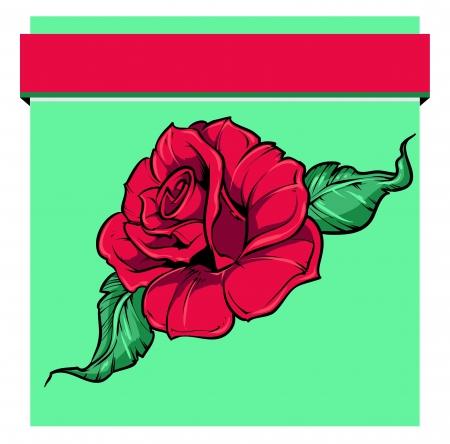 bovenaanzicht plant: roos kunst