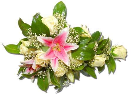 beautiful  bouguet of flowers from bride