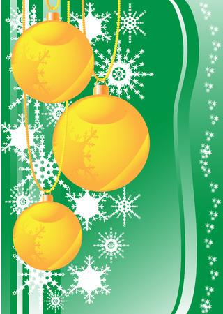 christma: snowflakes and christmas balls vector illustration