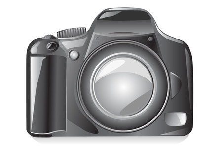photo camera vector illustration isolated on white background Vector