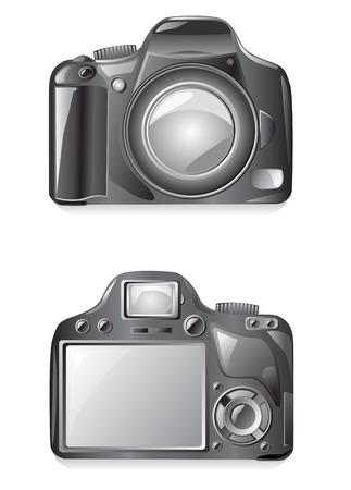 Ilustración de vector de cámara de foto aislado sobre fondo blanco  Ilustración de vector
