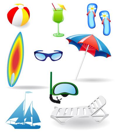 set from beach Vector