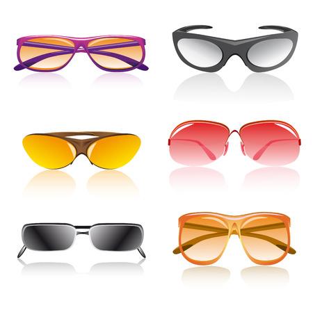 Ilustraci�n de vector accesorio de gafas de sol aislado sobre fondo blanco