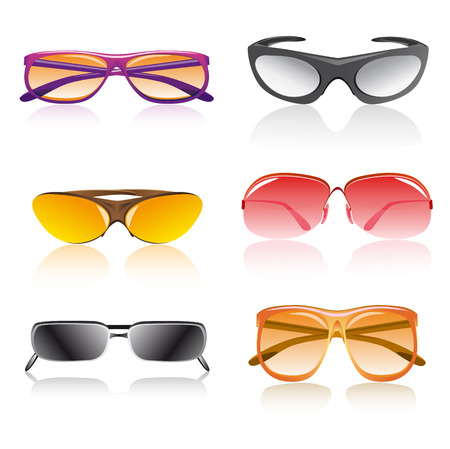 sunglasses accessory vector illustration isolated on white background