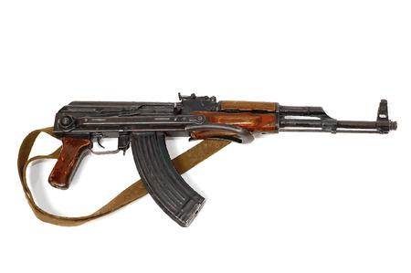arma es una ilustraci�n de vector de Kalashnikov automat aislada sobre fondo blanco