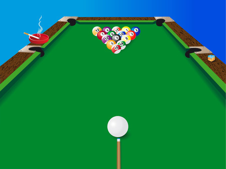 billiards tables: a billiard table vector illustration