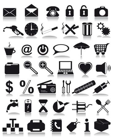 black icons  illustration isolated on white background illustration