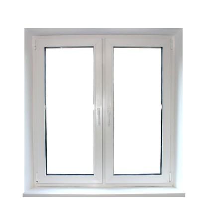 plastic window isolated on white background