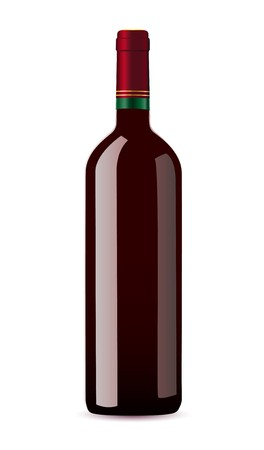 cabernet: bottle with red wine vector illustration Stock Photo