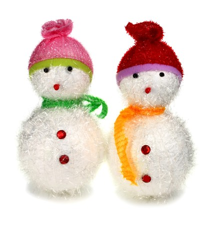 toy decoration snowman isolated on white background photo
