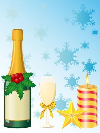 christmas champagne Stock Photo - 7966874