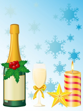 christmas champagne Stock Photo - 7966874