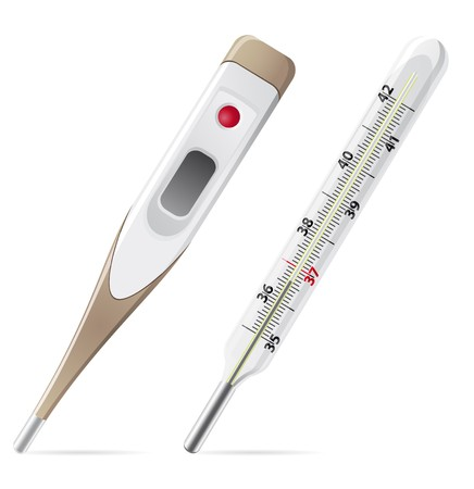 medical thermometer illustration isolated on white background Stock Illustration - 7966902