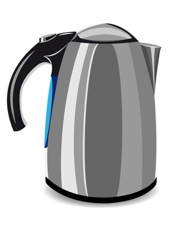 electric kettle: electric kettle illustration isolated on white background