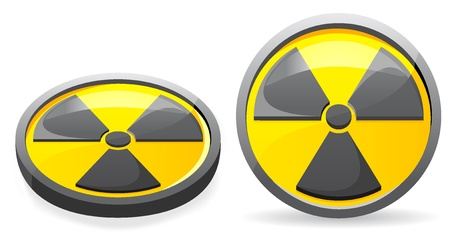 an emblem is a sign of radiation illustration isolated on white background Stock Illustration - 8775852